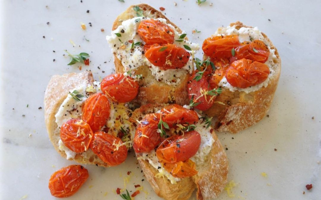 Grilled Bread with Ricotta and Tomatoes