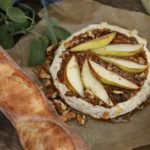 Pear and Dijon Baked Brie