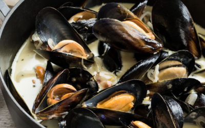 Mussels with Cream and Pernod