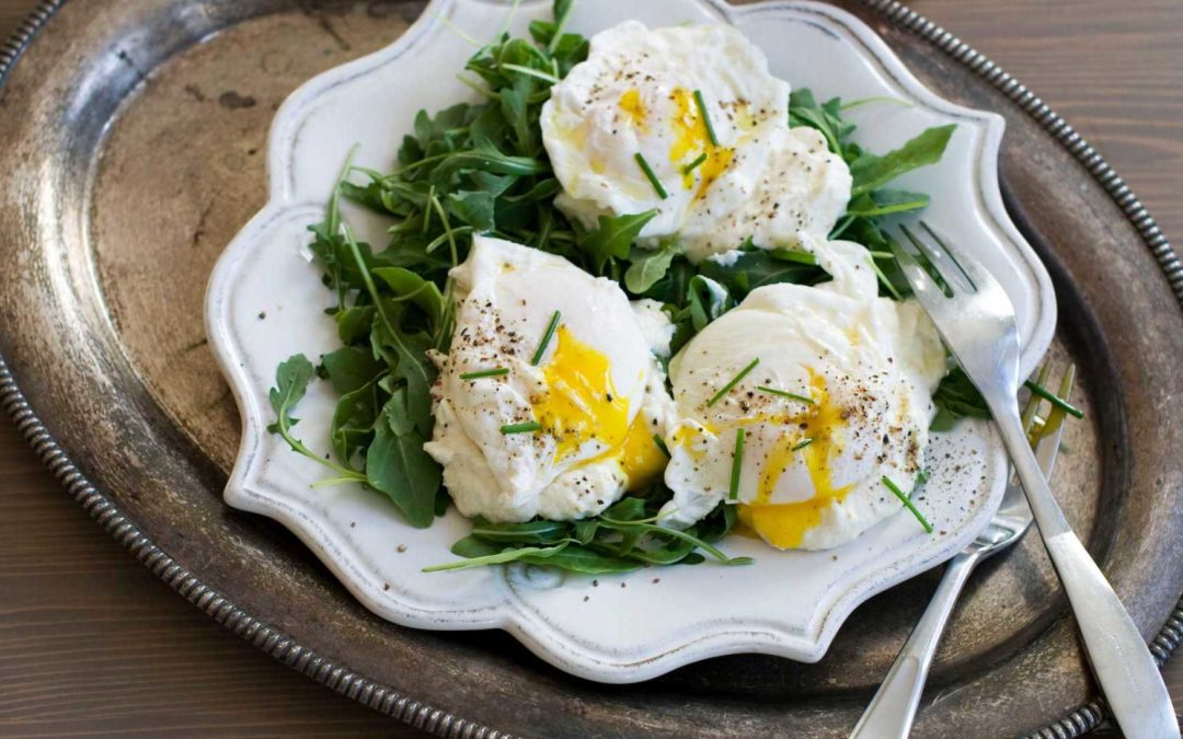 Poached Eggs with Ricotta, Arugula and Parmigiano Reggiano