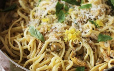 Pantry Recipe:  Pasta with Clams, Basil & Lemon